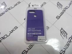 Силиконовая накладка Silky soft-touch Xiaomi Redmi 6 фиолетовый