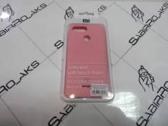 Силиконовая накладка Silky soft-touch Xiaomi Redmi 6 розовый