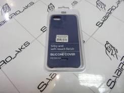Силиконовая накладка Silky soft-touch Xiaomi Redmi 6A синий