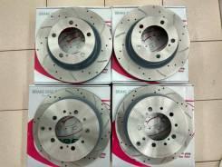 Комплект перфорированных тормозных дисков G-brake Замена Бесплатно! GFR21046L