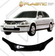 Дефлектор капота Honda Civic EK2, EK3, EK4, EK9 1995-2000 (Мухобойка)