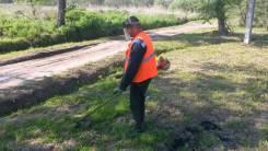 Разработка участка, валка деревьев, вырубка кустарника, скос травы