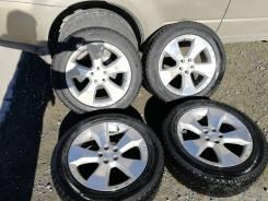 """Шины Bridgestone 215/60R17 на оригинальном литьё Subaru. 7.0x17"""" 5x100.00 ET48"""
