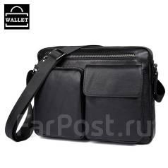 9186a7142936 Мужская сумка на плечо. Черная. Натуральная кожа - Аксессуары и ...