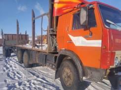 КамАЗ 53202. Продается лесовоз камаз с телегой, 20 000кг., 6x4