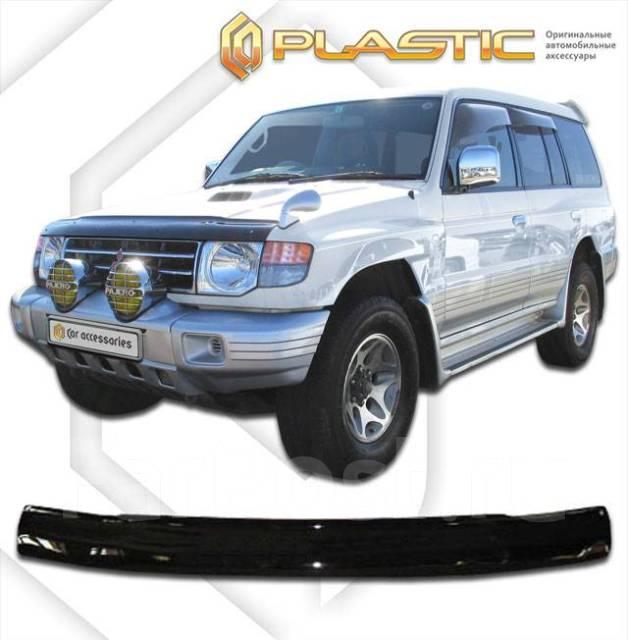 Дефлектор капота Mitsubishi Pajero 1992-2000 (Мухобойка) 47