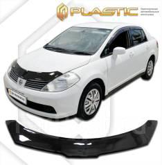 Дефлектор капота. Nissan Tiida Latio, SC11, SJC11, SNC11 HR15DE, MR18DE. Под заказ