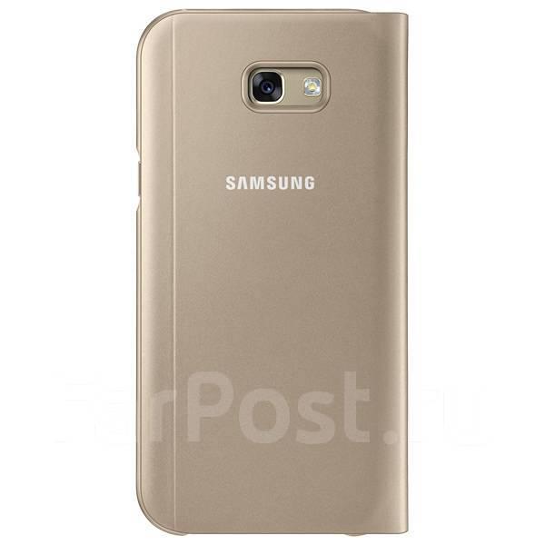 Оригинальный чехол-книжка S View Standing Cover Samsung Galaxy A7 2017 A720 Золотой