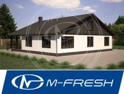 M-fresh Avrora (Посмотрите этот готовый проект дома с 6 комнатами! ). 300-400 кв. м., 1 этаж, 6 комнат, бетон