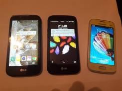 LG K3. Б/у, Желтый, Черный