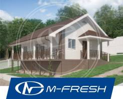 M-fresh Dacha! (Готовый проект небольшого дачного дома 70 м2). до 100 кв. м., 1 этаж, 3 комнаты, каркас