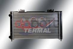 Радиатор охлаждения Lada Лада Priora Приора 1.6 - 1.8 Мкпп с кондиционером (патрубки по одной стороне) Termal 717010