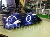"""Фары Toyota Mark JZX 100 линза черные """"Ангельские глазки"""""""