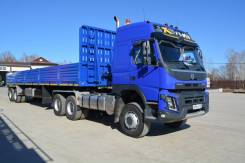Volvo. Продам седельный тягач FM-Truck 6x6 с п/прицепом НовоСибАРЗ 49тн, 13 000куб. см., 49 000кг., 6x6