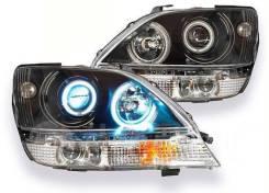 Фары (оптика) Lexus RX300 / Toyota Harrier 1998-2002 черные Ангел. глаз