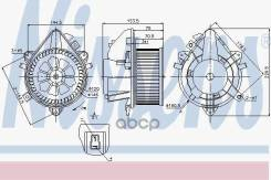 Вентилятор Отопителя Салона Fiat Doblo (119 223) (01-) 1.9 Jtd Nissens арт. 87124