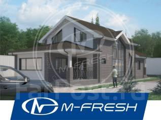 M-fresh Grenada (Готовый строительный проект бани с жилой мансардой! ). 100-200 кв. м., 2 этажа, 3 комнаты, бетон