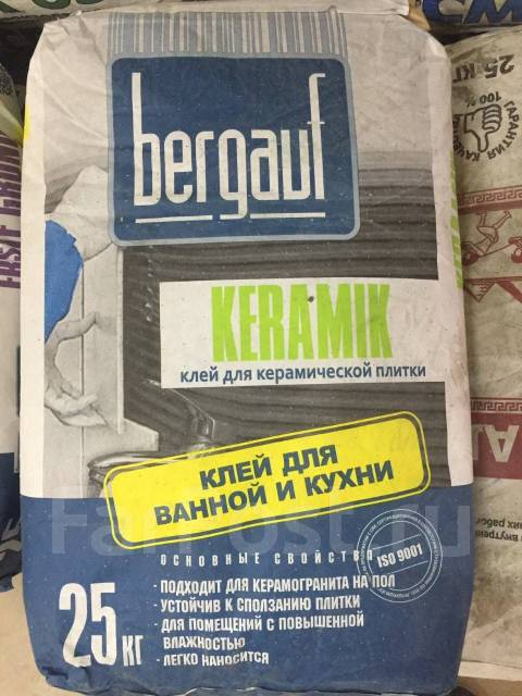Клей для кафеля Bergauf Keramik