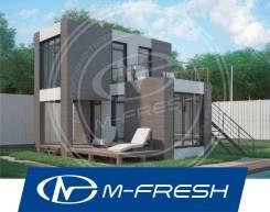 M-fresh Bungalow! -зеркальный (Вот он! Проект дома по технологии ЛСТК). до 100 кв. м., 2 этажа, 4 комнаты, каркас