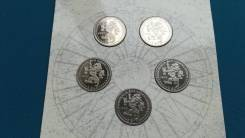 Нидерланды 2 экю 1995 г. в буклете парусники (5 монет)