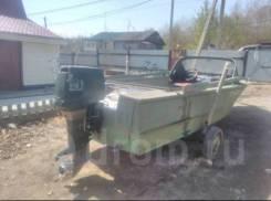 Самодельная модель. длина 5,00м., двигатель подвесной, 80,00л.с., бензин