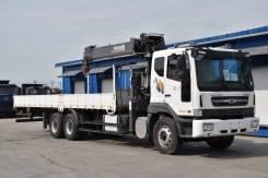 Daewoo Novus. Продам бортовой грузовик с краново-маниупляторной установкой Horyong, 10 964куб. см., 15 500кг., 6x4