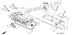 Прокладка клапанной крышки. Honda: Accord, MR-V, Avancier, Odyssey, Pilot, Saber, Inspire, Lagreat Двигатели: F20B2, F20B4, F20B5, F20B7, F23A1, F23A2...