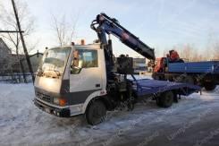 Tata. ТАТА 613 Эвакуатор с КМУ PM 12012 ломанная платформа1, 3 760куб. см., 3 000кг., 4x2