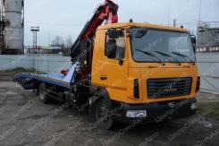 МАЗ 4371. Эвакуатор с КМУ Amco Veba 816 ломаная платформа, 7 000куб. см., 3 000кг., 4x2