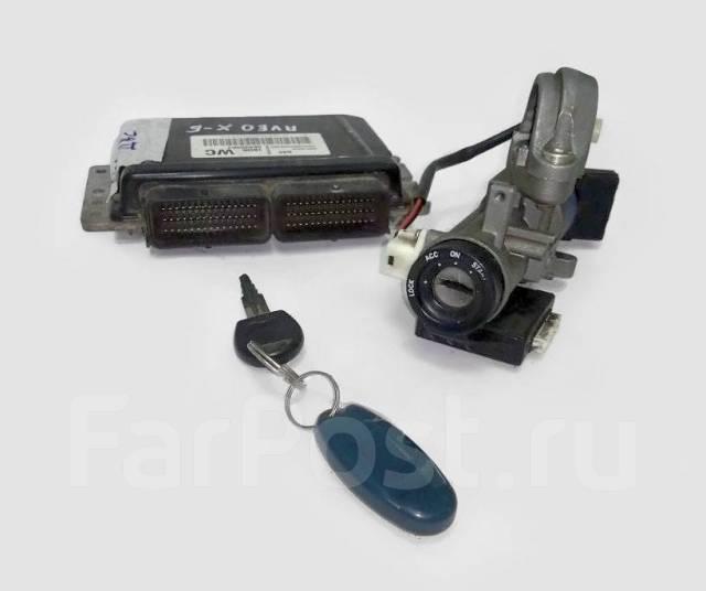 Блок управления двигателем (мозги) комплект Chevrolet Aveo T200