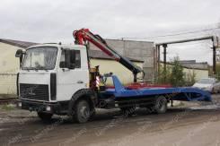 МАЗ 4370. с КМУ Fassi 100 ломанная платформа, 4 310кг., 4x2