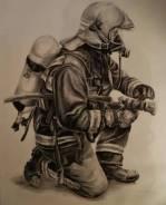 Пожарный. Пожарная часть № 4 г. Фокино. Ул. Крымская 2Б