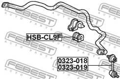 Втулки стабилизатора Втулка переднего стабилизатора d25.4 HSB-CL9F [114102]