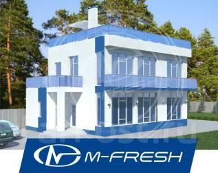 M-fresh Hostel (Проект дома с отдельными комнатами с санузлами). 200-300 кв. м., 2 этажа, 5 комнат, бетон