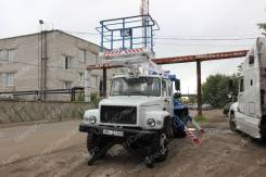 Випо-18. Автовышка ГАЗ 33098 Егерь с АГП ВИПО 18-01, 4х2 (двурядная кабина)