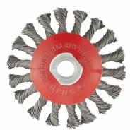 """Щетка для УШМ, 100 мм, М14, """"тарелка"""", крученая проволока 0,5 мм// MATRIX"""