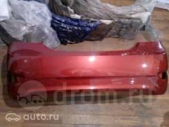 Бампер задний Hyundai Solaris 2010-14г. в. красный TDY