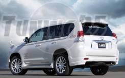 Уголки на задний бампер Jaos Toyota Land Cruiser Prado 150 2013 - 2017