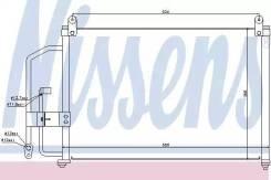 Радиатор кондиционера\ Daewoo Lanos 1.4-1.6 97 NISSENS 94412