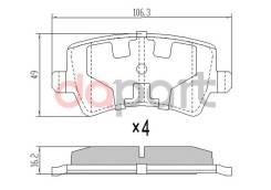 Колодки тормозные задние Volvo Вольво xc60 / 70 / Land Rover Ленд Ровер Evoque Эвок 11- / Ford Форд Galaxy Галакси ii / S-max С-мах 06- SAT ST31445796