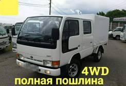 Nissan Atlas. 4WD, двухкабинник + борт 1,5 тонны, 2 700куб. см., 1 500кг., 4x4