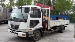 Nissan Diesel Condor. Продаётся манипулятор борт кран Nissan UD 2001г. в. бп по РФ в Томске, 7 000куб. см., 5 000кг., 4x2