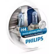 Комплект ламп Philips H4 75/70W 24V MasterDuty BlueVision (4000K)