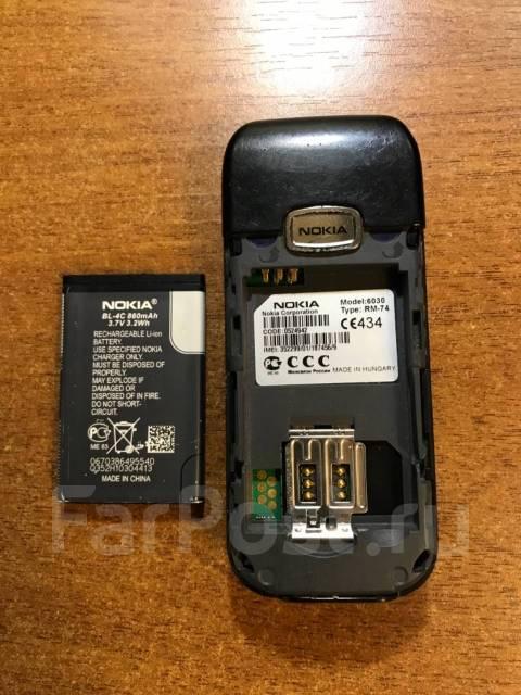 Телефон Nokia 6030 - Смартфоны и сотовые телефоны в Уссурийске