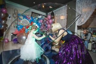 Шоу мыльных пузырей, организация праздников, аниматоры от Макси-БУМ