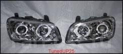 Фары (оптика) с ангельскими глазками Toyota Rav4 96-99 линза светлые