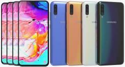 Samsung Galaxy A70. Новый, 128 Гб, Белый, Черный, 3G, 4G LTE, Dual-SIM, Защищенный, NFC