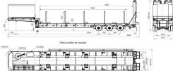 УЗСТ. Полуприцеп-Тяжеловоз 40 тонн, 40 000кг.