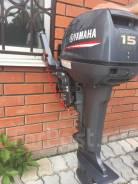 Yamaha. 15,00л.с., 2-тактный, бензиновый, нога S (381 мм), 2015 год