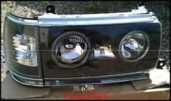Оптика (фары) Toyota Land Cruiser 80 с ангельскими глазками черные